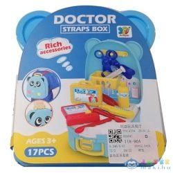 Orvosi Játékszett Kék Macis Tárolóban Kiegészítőkkel (Magic Toys, MKL375260)
