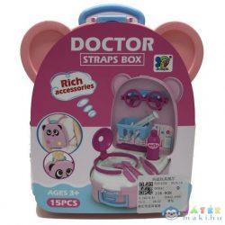 Orvosi Játékszett Pink Macis Tárolóban Kiegészítőkkel (Magic Toys, MKL375269)
