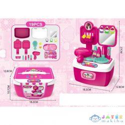 Pink Hordozható 19 Db-os Szépségszett (Magic Toys, MKL445208)