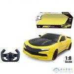 Rc Távirányítós Xxl Chevrolet Camaro Sárga-Fekete Sportautó 1:8-As Méretarányban (Magic Toys, MKL598649)
