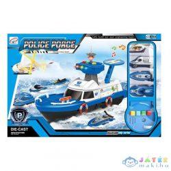 Rendőrhajó Szett Fénnyel És Hanggal, Kiegészítőkkel (Magic Toys, MKL410342)