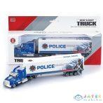 Rendőrségi Konténerszállító Kamion 1:58-As Méretben (Magic Toys, MKL036293)