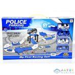 Rendőrségi Pálya Szett Négy Hátrahúzós Kisautóval (Magic Toys, MKL181643)