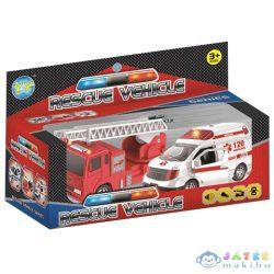 Rescue Vehicle 2Db-os Tűzoltó És Mentőautó Szett Fénnyel És Hanggal (Magic Toys, MKL426605)