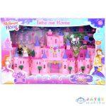 Rózsaszín Kastély Hintóval, Figurákkal És Fényekkel (Magic Toys, MKK292587)