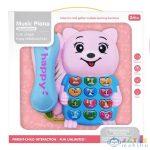 Rózsaszín Macis Telefon Fénnyel És Hanggal (Magic Toys, MKL560444)