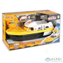 Sárga Munkagép Szállító Hajó Kiegészítőkkel, Fénnyel És Hanggal (Magic Toys, MKL414779)