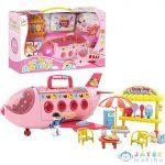 Sweet Airplane Hordozható Rózsaszín Repülőgép Játékszett 38Cm (Magic Toys, MKL570137)