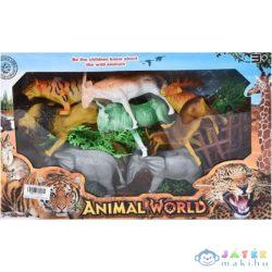 Szafari Játékszett 8Db Állatfigurával És Kiegészítőkkel (Magic Toys, MKL113729)