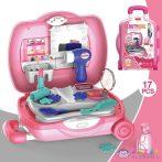Szépség Szett Pink Gurulós Bőröndben Kiegészítőkkel (Magic Toys, MKL277016)