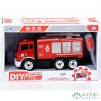 Szerelhető Tűzoltóautó Vízágyúval 25Cm (Magic Toys, MKK419856)