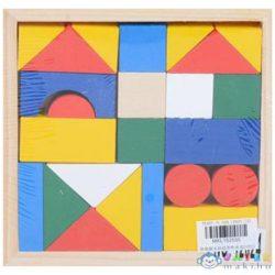 Színes Fa Építőkockák 24Db-os Szett (Magic Toys, MKL152555)