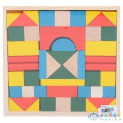 Színes Fa Építőkockák 48Db-os Szett (Magic Toys, MKL152546)