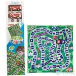Tűzoltó Autós Társasjáték Játszószőnyeg 70X70Cm (Magic Toys, MKK137949)