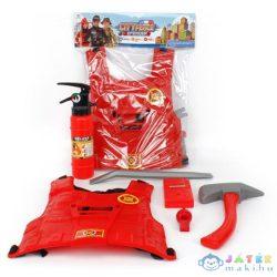 Tűzoltó Játékszett Páncéllal És Kiegészítőkkel (Magic Toys, MKL134564)
