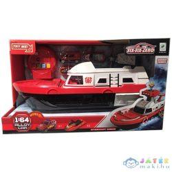 Tűzoltó Motorcsónak 3Db Járművel, Fény És Hang Effektekkel (Magic Toys, MKL373712)