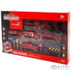 Tűzoltósági Járműszett Kiegészítőkkel 18Db-os Készlet (Magic Toys, MKL384359)
