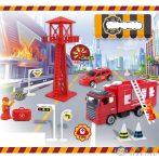 Tűzoltósági Játékszett Őrtoronnyal, Tűzoltó Autókkal És Kiegészítőkkel (Magic Toys, MKL488993)
