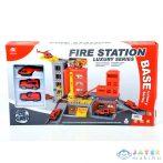 Tűzoltósági Parancsnokság Parkolóházzal, Járművekkel (Magic Toys, MKK424752)