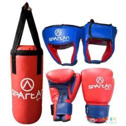 Box szett, 1 pár kesztyűvel, fejvédővel, boxzsákkal, Spartan (Spartan, SP-1138)