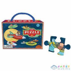 Retro Állatos-űrhajós eeBoo Puzzle, 20 Db-os (978-1-59461-821-5)