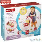 Fisher Price Zenélős Rózsaszín Babakocsis Járássegítő (Mattel, CGN65)