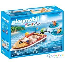 Playmobil Motorcsónak Vízi Fánkokkal 70091