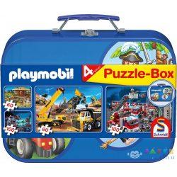 Playmobil Puzzle-Box Puzzle Fém Bőröndben - (Playmobil, 55599)