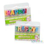 """Trendhaus """"Happy Birthday"""" mintás betűk szülinapi gyertya szett, 2 színben (Kensho, 939012)"""