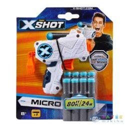 X-Shot: Micro Szivacslövő Pisztoly Fehér (Formatex, FO-XSH3613)