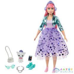 Barbie: Hercegnő Kaland - Rózsaszín Hajú Baba Kiscicával (Mattel, GML75)
