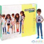 Creatable World: Barna Bőrű Öltöztethető Baba 12 Kiegészítővel (Mattel, GGT68)