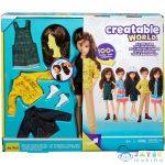 Creatable World: Barna Hajú Öltöztethető Baba 12 Kiegészítővel (Mattel, GKV46)