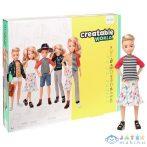 Creatable World: Szőke Hajú Öltöztethető Baba 12 Kiegészítővel (Mattel, GGT67)