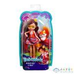 Enchantimals: Felicity Fox Figura Kék Felsőben (Mattel, DVH87)