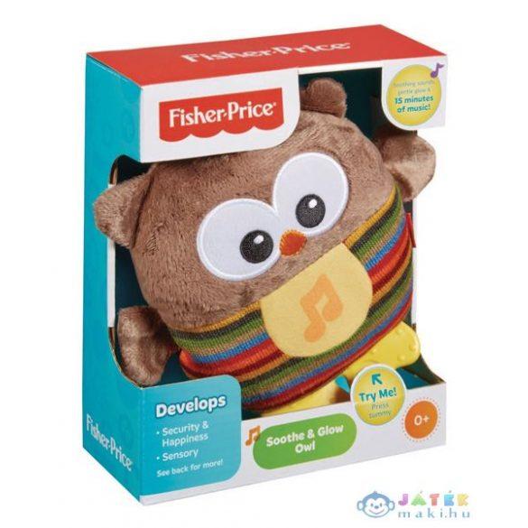 Fisher Price Nyugtató Bagoly Plüsskoma (Mattel, m-CDN55)