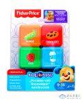 Fisher-Price: Első Szavak, Finomságok Kutyusos Építőkockák (Mattel, FJG30-f)