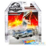 Hot Wheels Jurassic World: Velociraptor Kisautó - Kék (Mattel, DMH73)