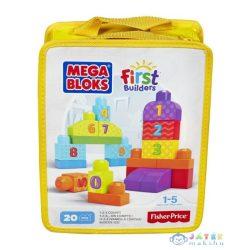 Mega Bloks: 1-2-3 Számolj Építőkockák - 20 Darabos 2015 (Mattel, CNH08)