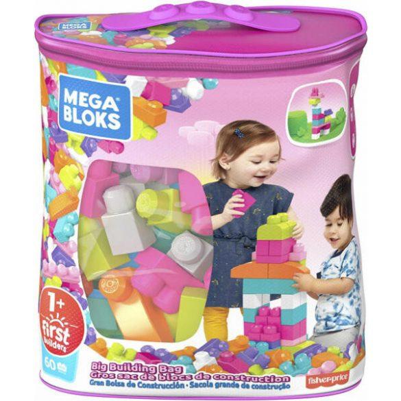 Mega Bloks: 60 Db Lányos Építőkocka Táskában (Mattel, DCH54)