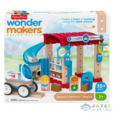 Fisher-Price - Wonder Makers: Úticélok - Logisztikai Raktár (Mattel, GFJ11, GFJ14)