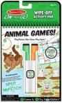 Állati Játékok Foglalkoztató Füzet Letörölhető Lapokkal (Melissa & Doug, 30171)