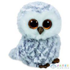 Ty Beanie Boos: Owlette Bagoly Plüssfigura - 15 Cm, Fehér-Szürke (Meteor, TY37201)