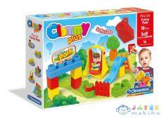 Clemmy Plus puha építőkockák 16 darabos játszótér készlet (Clementoni, m-14523)