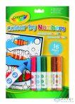 Crayola: 16 Lapos Szám Szerinti Kifestő Lemosható Filccel (Crayola, 7321)