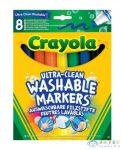 Crayola: 8 Darabos Extra-Lemosható Vastag Filctoll (Crayola, 58-8328)