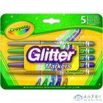 Crayola: Csillámos Filctoll Készlet - 5Db-os (MH, 58-8645)