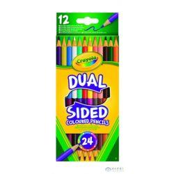 Crayola: Kétvégű Színes Ceruza - 12 Darabos (Crayola, 68-6100)