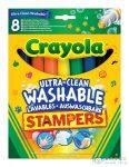 Crayola: Kimosható Filctoll Nyomda - 8 Darabos (Crayola, 58-8129)