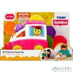 Tomy Toomies: Vidám Fagyiskocsi Foglalkoztató - Rózsaszín (MH, E73095)